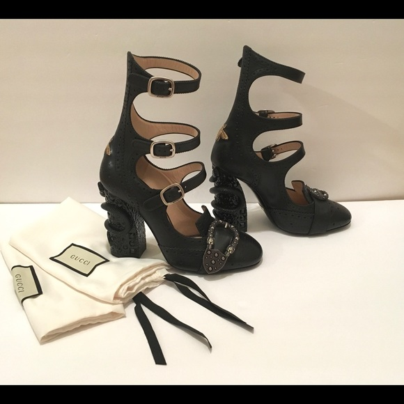11ebcd3e3 Gucci Shoes | Queercore Broque Snake Heel Pumps | Poshmark